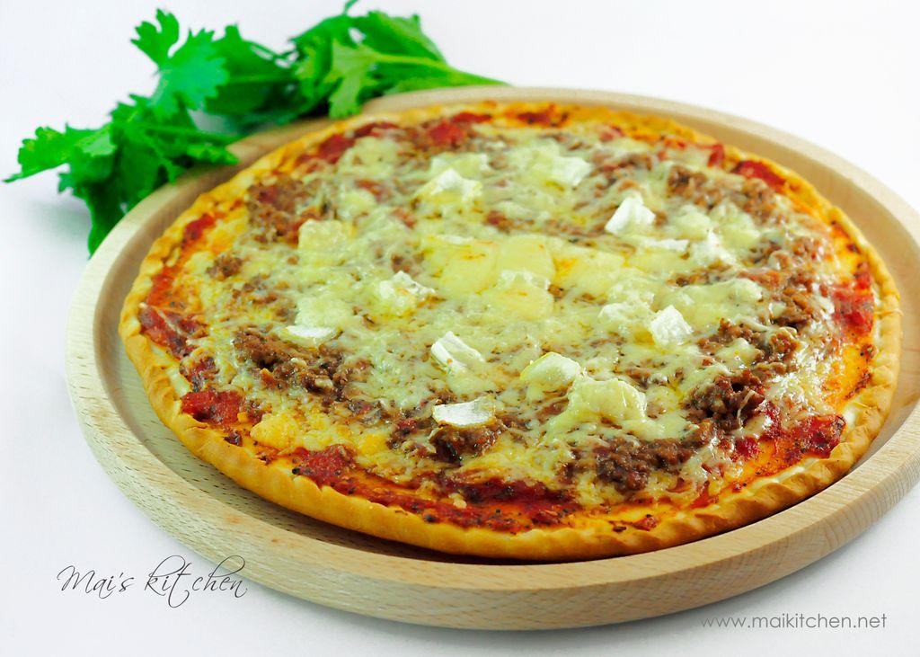Pizza thịt bò băm-Maikitchen.jpg